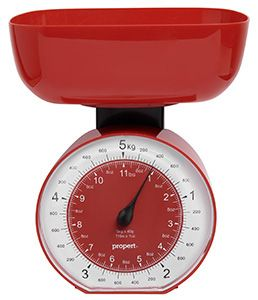 Propert Cardinal Mech Kitchen Scale Red 5kg