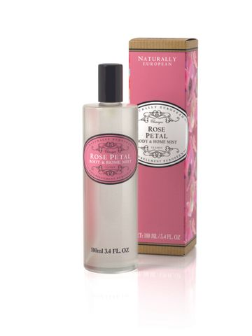 Naturally European Body Mist & Home Spray Rose Petal 100ml