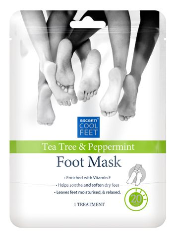 Escenti Tea Tree & Peppermint Foot Mask