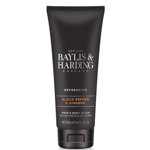 B&H Men's Black Pepper & Ginseng Hair & Body Wash 250ml