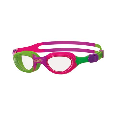 Little Super Seal Pink/Green Clear Goggle