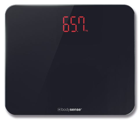 Bodysense Bath Scale Black Wide 200kg