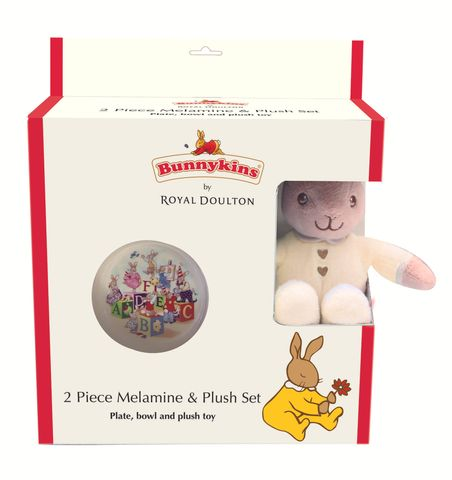 Bunnykins Plush Toy, Bowl & Plate Cream
