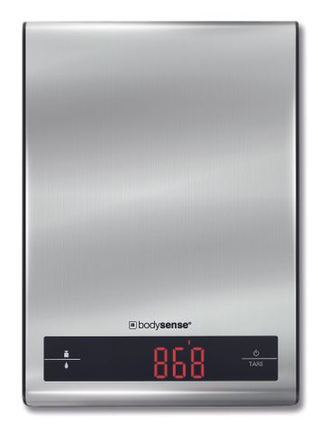 Bodysense Kitchen Scale Stainless Steel 5kg