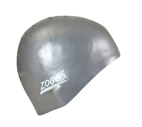 Standard Latex Swim Cap Silver