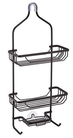 Shower Caddy 3 Tier Aluminium Black