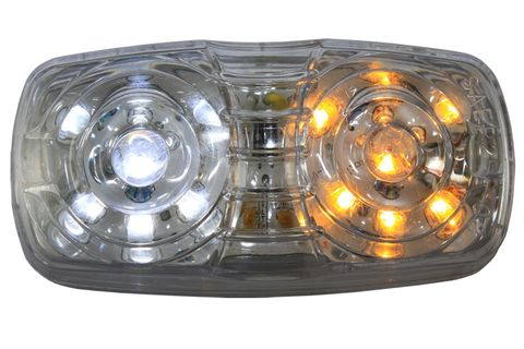 Ap01Aw Led Clearance Amber/White 14Led M
