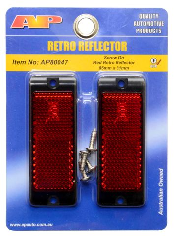 Reflector Red 85X31 Screw Base Twin Pack