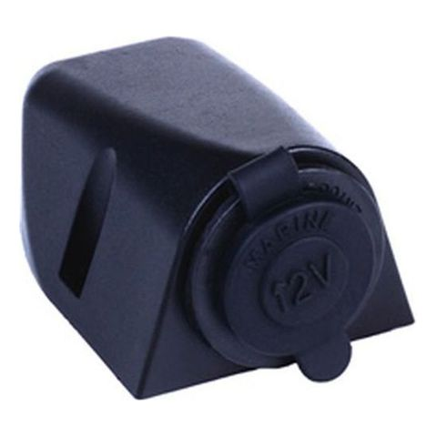12V CIG SOCKET SURFACE MOUNT BLACK