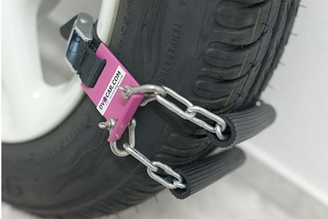 Pink Car Chain For Snow, Mud & Sand