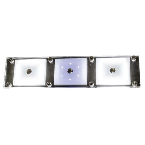 """Led Lamp Triple Euro """"Touch"""" With Blue N"""