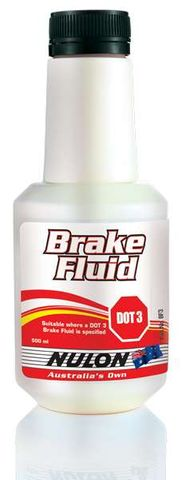 Brake Fluid (Dot 3) 500 ml Bottle