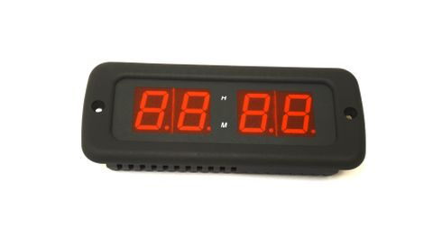 Euro Digital Clock, Red