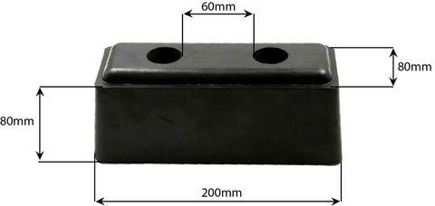 Rubber Buffer Black 200X80X80MM
