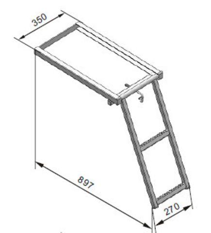 Ladder Slide Out 2 Step