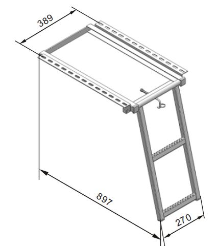 Ladder Two Step With Bracket Z/P