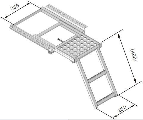 Ladder Two Step C/W Brkt & Platform Z/P