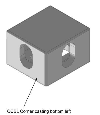 Corner casting bottom left