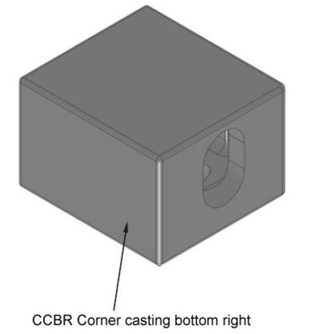 Corner Casting Bottom Right