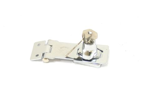 Hasp & staple s/s 75mm key locking