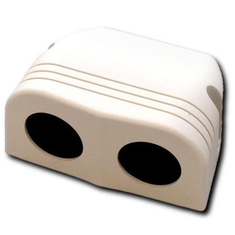 Accessory Socket Housing Double- White
