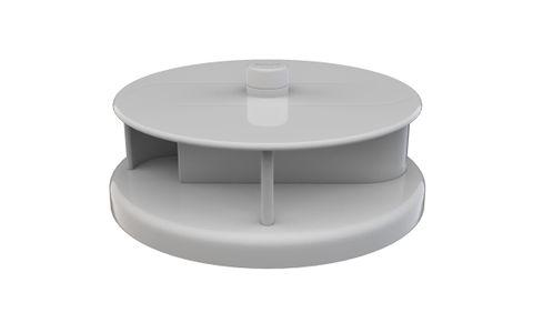 Rotary Vent White PVC - 230mm