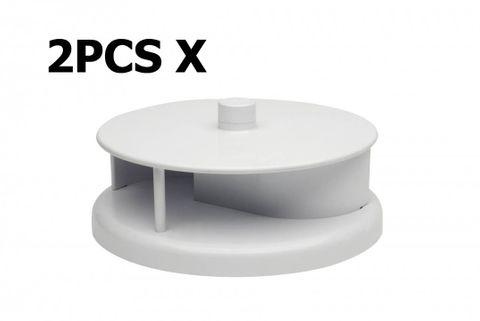 Rotary Vent White PVC - 230mm 2pcs