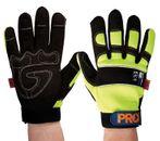 Glove ProFit Full Finger Hi-Vis Yellow Glove Size 2XL