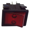 Vac Part Switch On Off Red Rocker 4 Pole