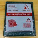 Garbage Bin Liner 240ltr HD Black Ctn 100
