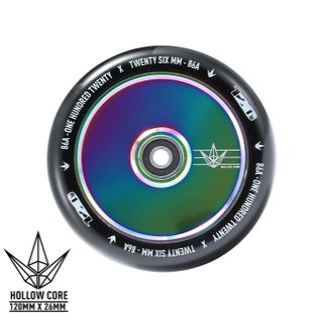 120mm Wheel Hollow Core OS/BK