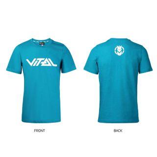 Vital T Shirt Logo Teal Med