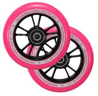 100mm Wheels (Pair) - BK/PK