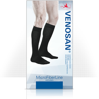 MICROFIBER SUPPORT SOCK MEN SMALL