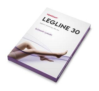 LEGLINE 30 THIGH HIGH AGH LARGE BLACK