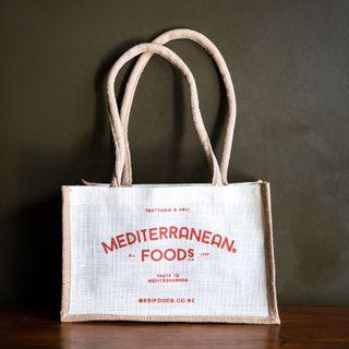 MEDITERRANEAN FOODS JUTE BAG SMALL