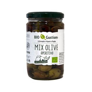 ORGANIC FIVE SPICES MIXED PITTED OLIVES IN OIL 280g JAR