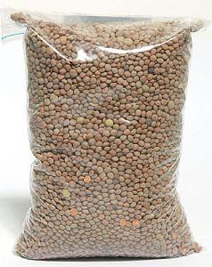LENTILS BROWN DRY 1KG BAGS