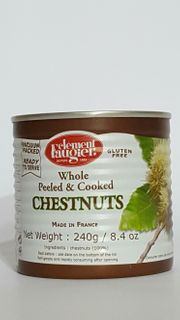 NUTS CHESTNUTS WHOLE 200g VAC PACK FRENCH