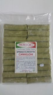 CANNELLONI - RICOTTA & SPINACH FILLED 1KG FROZEN