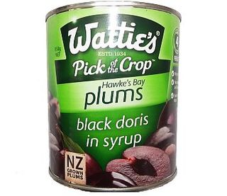 BLACK DORIS PLUMS IN SYRUP A10