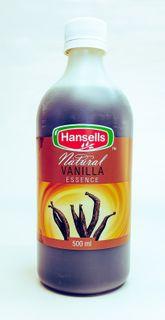 ESSENCE VANILLA NATURAL 500ml HANSELLS