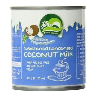 CONDENSED COCONUT MILK SWEETENED VEGAN 320g NATURES CHARM