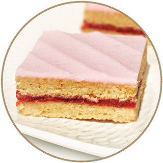 RASPBERRY SHORTCAKE SLAB SLICE (2.0KG) ORIGINAL FOODS