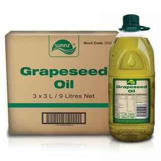 GRAPE SEED OIL 3 LITRE SUNNZ BRAND