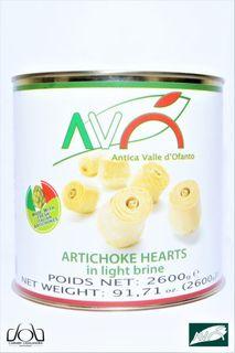 ARTICHOKES HEARTS IN BRINE 2.6KG TIN ANTICA