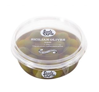 OLIVES GREEN STONE IN SICILIAN 2kg BUCKET FOOD SNOB