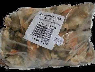 MUSSELS MEAT IQF FROZEN 1kg