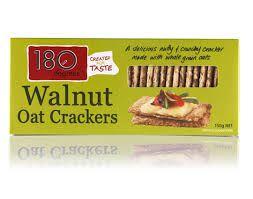 180 DEGREES CRACKERS OAT WALNUT 150g
