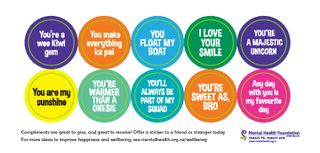 Compliment Stickers English